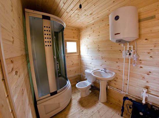 Как сделать душевую с ванной в деревянном доме